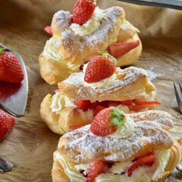houx à la ème chantilly et fraises