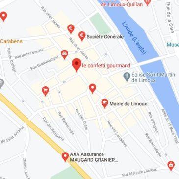 google maps plan d'accès